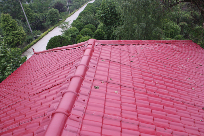 成都温江农村屋面改造树脂瓦工程